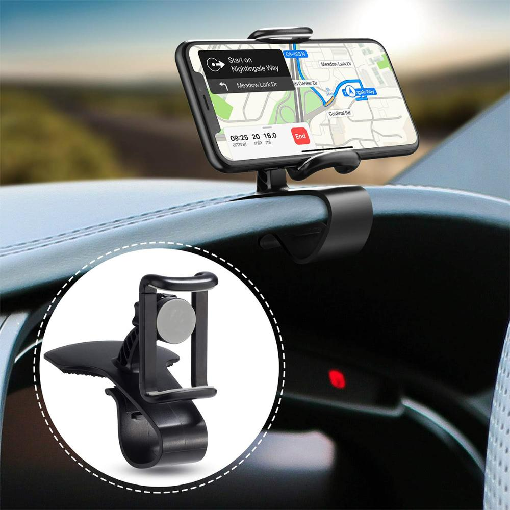 Car Phone Holder 360-Degree Rotation Cell Phone Holder Suitable For 4 To 6.5 Inch Smartphones,Rotating Dashboard Clip Mount Stan