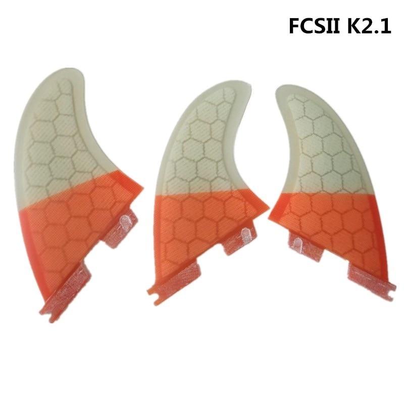 FCS2 Surfování Fin FCSII K2.1 Sklolaminát Fin Honeycomb Barbatanas de fcs ii surf Pliny Quilhas