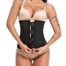 Women Latex Waist Trainer Zipper Underbust Slim Tummy Cinchers Female Firm Corset Body Shapers Shaper Belts