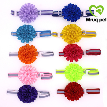 120pcs-wholesale-pet-puppy-dog-cat-bow-ties-adjustable-reflective-band-flower-ball-dog-accessories-dog-bowties-pet-supplies