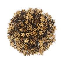 Блестящие 100 шт деревянные пуговицы для шитья скрапбукинга цветок натуральный цвет два отверстия 12 мм диаметр. Costura Botones bottoni botoes