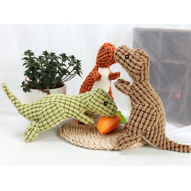 2018 Nuovo Animale Domestico a Forma di Dinosauro Peluche Masticare Molare Squea