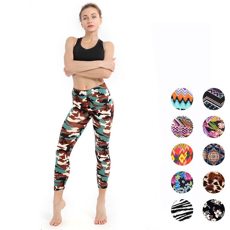 Women Fitness   Leggings   High Elastic Skinny Camouflage   Legging   Plus Size Push Up Pants Skull Women Pencil Pants Feminino Jeggings