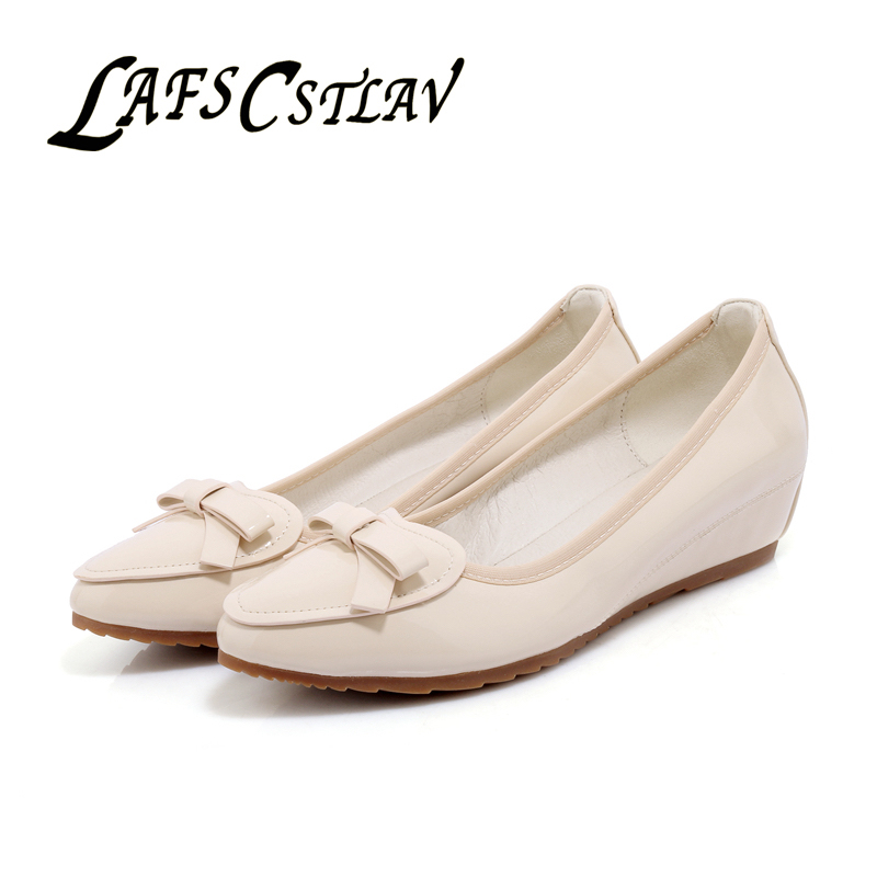 LAFS CSTLAV Sweet Loafer Wedge Heel Women Bekväm Casual Basic - Damskor