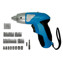 цена на Household maintenance Electric Screwdriver 3.6V DC 180rpm Rechargeable Electric Screwdriver 46pcs/set with LED Light