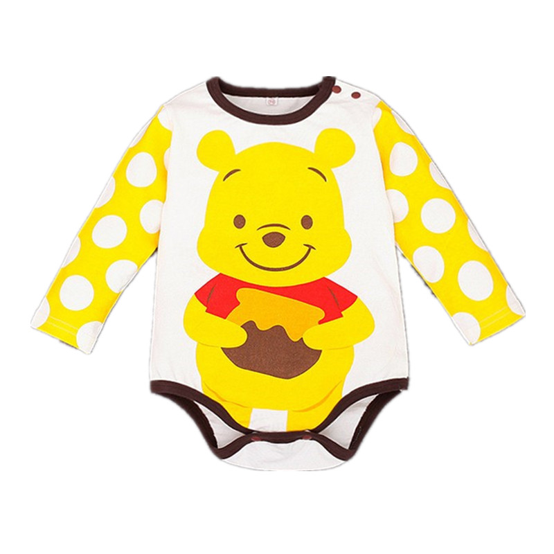 2017 Newborn Baby Boys Girls Long Sleeve Cartoon Romper Spring Autumn Cute Toddlers Cotton Jumpsuit Unisex Kids Clothing Costume spring autumn newborn baby rompers cartoon infant kids boys girls warm clothing romper jumpsuit cotton long sleeve clothes