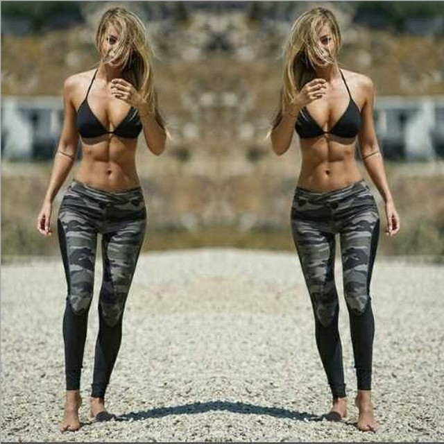 2017 New Autumn Pants Women Camouflage Print Pattern Slim Trousers Straight Casual Skinny Streetwear Leggings Bottoms 2009