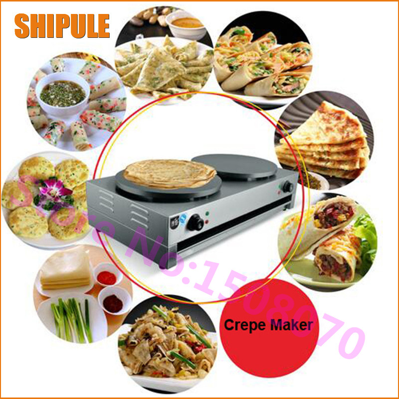 SHIPULE High quality uniform heating commercial crepe maker machine electric crepe making pancake machine for sale edtid new high quality small commercial ice machine household ice machine tea milk shop