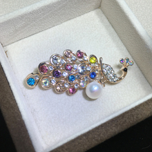 ZHBORUINI High Quality Natural Freshwater Pearl Brooch Peacock Gold Color Jewelry For Women Gift Accessories