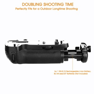 Image 3 - Samtian Multi Functionele Verticale Batterij Grip Houder Voor Nikon D500 Dslr Camera Vervangen MB D17 Werken Met EN EL15 Batterij