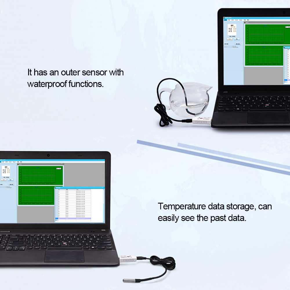 Image 4 - PCsensor USB Thermometer Temperature Sensor Data Logger Recorder  for PC Laptop Whiteusb thermometerthermometer usbusb thermometer  temperature recorder