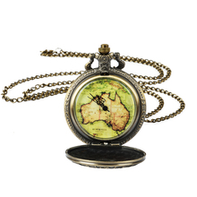 Roman Numerals Quartz Necklace Pocket Watch Vintage Bronze Pocket Fob Watches Chain Men Women Clock цена