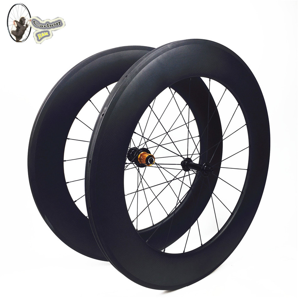 28 inch full carbon fiber 3k matte wheelset 88mm clincher road bike wheels with bitex hub  for triathon racing