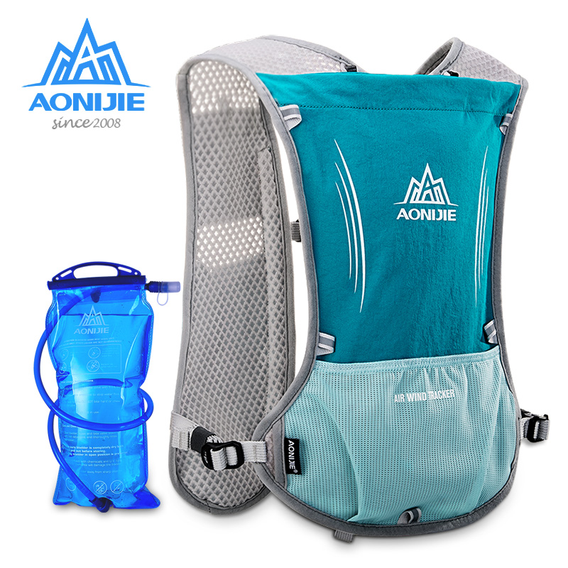 AONIJIE Outdoor Lightweight Sport Bag Trail Running Marathon Riding Hydration Backpack with 1.5L Water Bag aonijie 12l outdoor sport running backpack marathon trail running hydration vest pack for 2l water bag cycling hiking bag