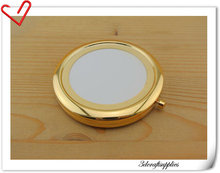 70mm blank gold compact mirror Pock frame color 100pcs/lot free shipping by express