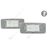2Pair Pure White 6000K Car LED License Plate Lamp Auot Number Light Canbus Error Free For