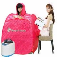 2016 Hot Household Single Steam Sauna Box Steamer Folding Fumigation Machine Khan Steam Machine