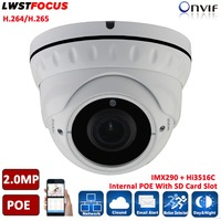 Sony IMX290 Hi3516C FULL HD 1080P Real WDR POE SD Card Slot 2MP IP Camera Outdoor