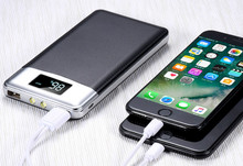 Горячая power bank 30000 mah Внешний Батарея ЖК-дисплей Портативный мобильного телефона Зарядное устройство powerbank для iPhone X samsung note 8 xiaomi 18650