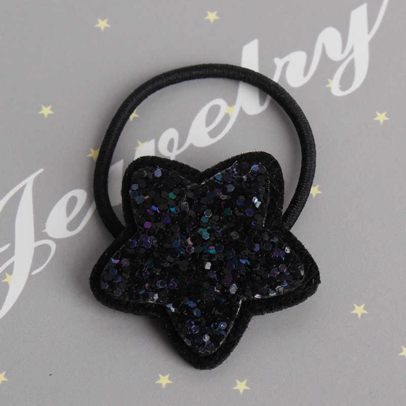 Nowe dzieci gumki do włosów świecące gwiazdy elastyczna gumowa opaska do włosów dziewczyny akcesoria do włosów nakrycia głowy dla dzieci nakrycia głowy dla dzieci