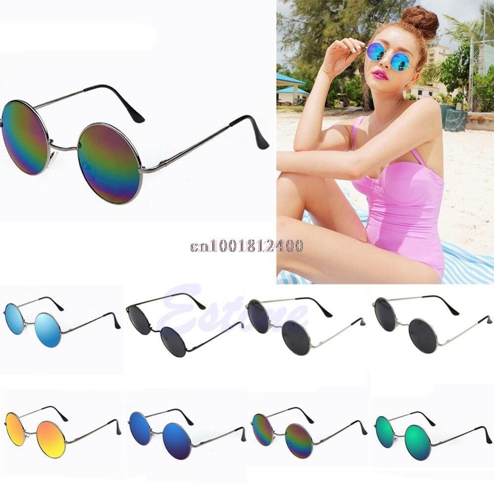 Vintage Sunglasses Men Women Sunglasses Hippie Retro Round Metal Eyeglasses Glasses Eyewear