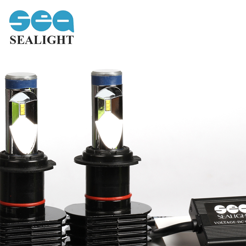 SEALIGHT car styling H7 90W 12000LM LED Headlight Fog Lamp Daytime Running Light Bulb Turning Parking Fog Bulb White Lights 2x car led 9006 hb4 5630 33 smd led fog lamp daytime running light bulb turning parking fog braking bulb white external lights