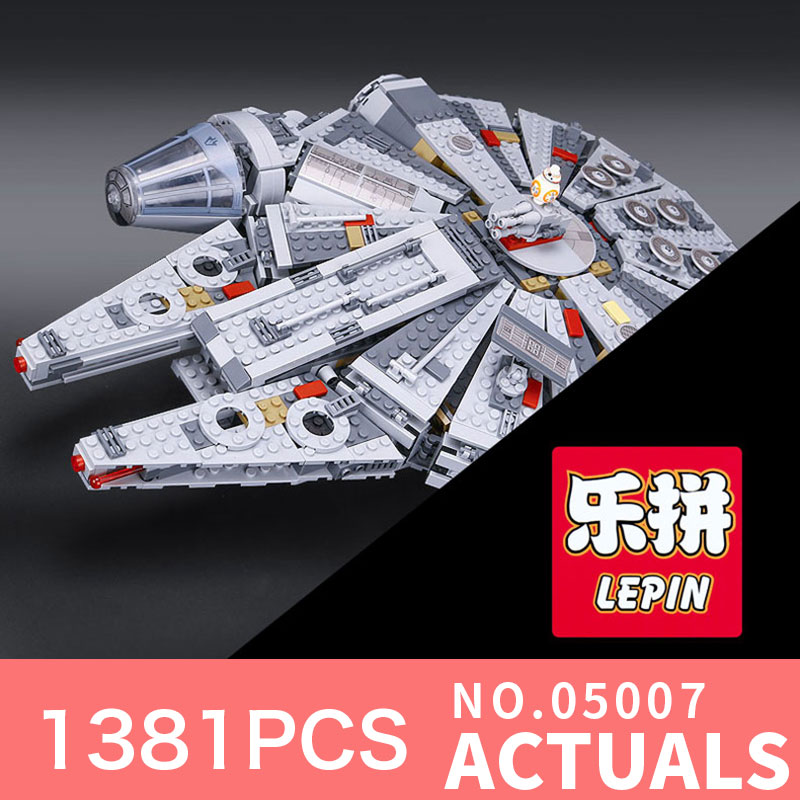 Star Wars Lepin 05007 Model Building Kits Blocks Star Destroyer Small Millennium Falcon toys for bpys LegoINGlys 10467 Gifts ynynoo lepin 05007 star assembling building blocks marvel toy compatible with 10467 educational boys gifts wars