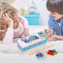 Магнитные деревянные игрушки с двойным полюсом железная коробка для рыбалки детские развивающие
