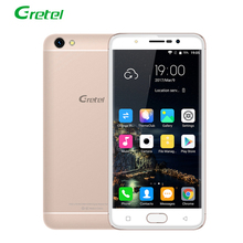 Gretel MTK6737 A9 4G LTE Smartphone Android 6.0 Quad Core 2 GB + 16 GB 5.0 Pulgadas HD 2300 mAh 8MP Teléfono Móvil de Huellas Digitales Telefon OTG