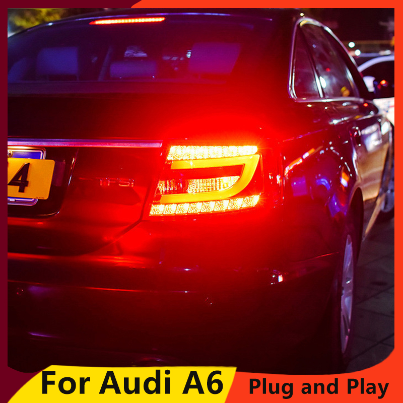 KOWELL Car Styling for Audi A6 rear Lights 2005 2008 led TailLight for A6 Rear Lamp