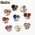 BlueZoo Nueva Llegada 10 unids/pack Oro 3D de la Aleación 3D Nail Art Decoration Glitter Rhinestone Colorido Del Clavo Del Diseño DIY Belleza de Uñas Stud