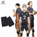 Haikyuu! Karasuno High School Volleyball Hinata Shyouyou Kneepad Adjustable Sports Leg Knee Support Brace Wrap Protector Pad Cap