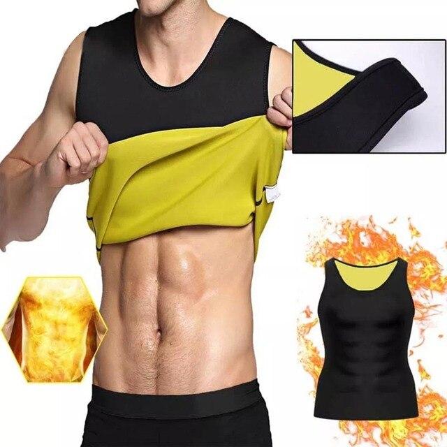 HEYME Men Sweat Neoprene Body Shaper Slimming Waist Trainer Cincher Slimming Wraps Fat Burning Weight Loss Slimming Belt 2