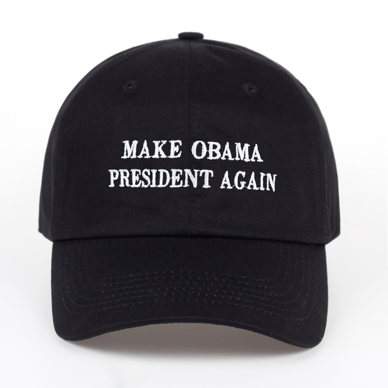 2017 MAKE OBAMA GREAT AGAIN letter embroidery Baseball Cap Unisex Cotton Snapback hat Women Men Fashion Dad Hat cotton baseball cap for women men 5 panel vintage letter casual dad hat washed adjustable baseball hat unisex type mx01
