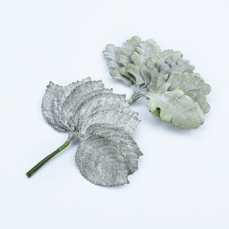 12pcs Fake Rubber leaf flowers for scrapbooking artificial plants for home wedding decoration diy christmas wreath gifts box in Artificial Plants from Home Garden
