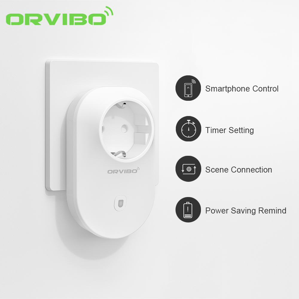 Original Orvibo B25 EU Standard Smart Wall Socket Plug WiFi Wireless Remote Timer Socket Adapter Power