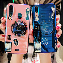 Fashion 3D Cute Retro Camera Phone Case For Oneplus 7 Pro Cases Silicone TPU Cover + lanyard 6 6T 5 5T Stand