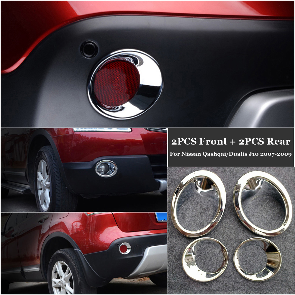 Front Rear Fog Lights Lamps Cover For Nissan Qashqai Dualis J10 Accessory Hot