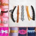 10 Pcs Wholesale Mix Different Styles Fashion Multicolor Doll Belts Jewelry Accessories For Barbie Kurhn Ken Doll Gift New 2014