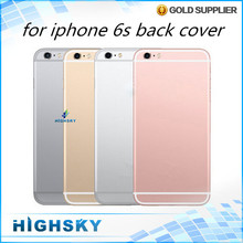 1 piece free shipping metal spare parts card tray and keys Multicolor back cover case for iphone 6s housing battery door