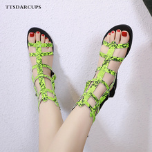 New Fashion Flat Bottom and Ankle Roman Sandals Hollowing out women shoes sexy Night Club Banquet Shoes 35-40 yards