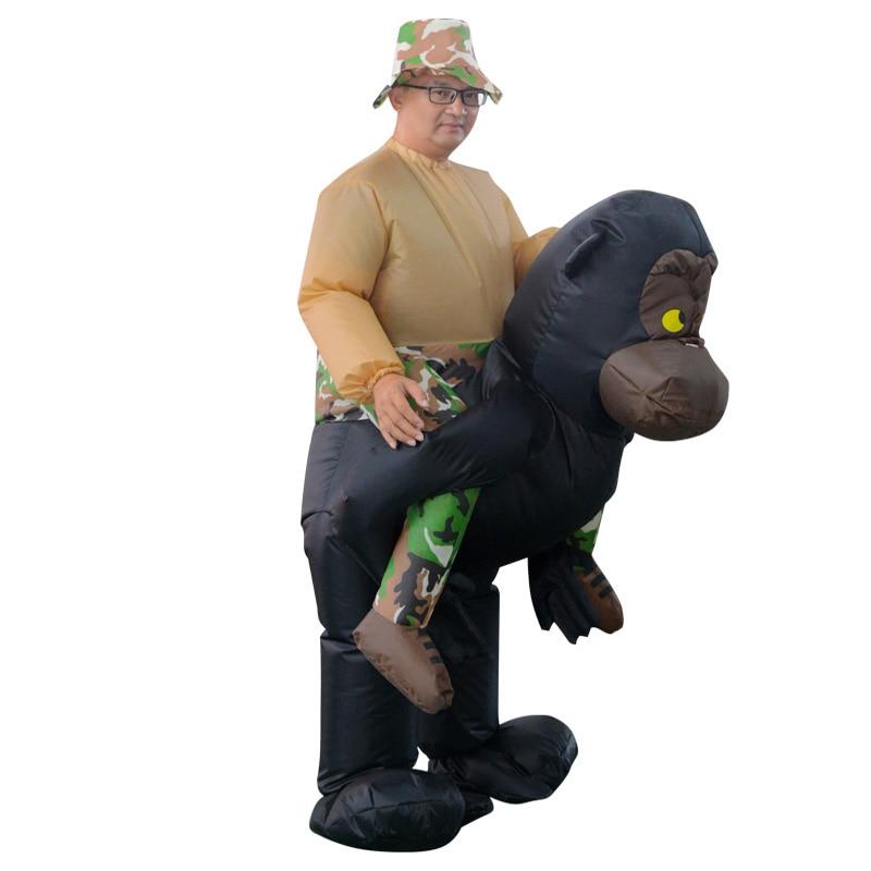 INFLATABLE RIDING GORILLA COSTUME Animal Themed Gorilla Cosplay - Maskeradkläder och utklädnad - Foto 4