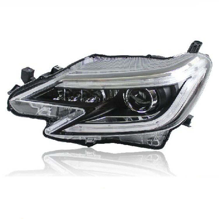 Ownsun New Eagle Eyes LED DRL Bi-xenon Projector Lens Headlights For Toyota Reiz 2014 ownsun new style tear drop led projector lens headlight for new ford focus 2012 2013