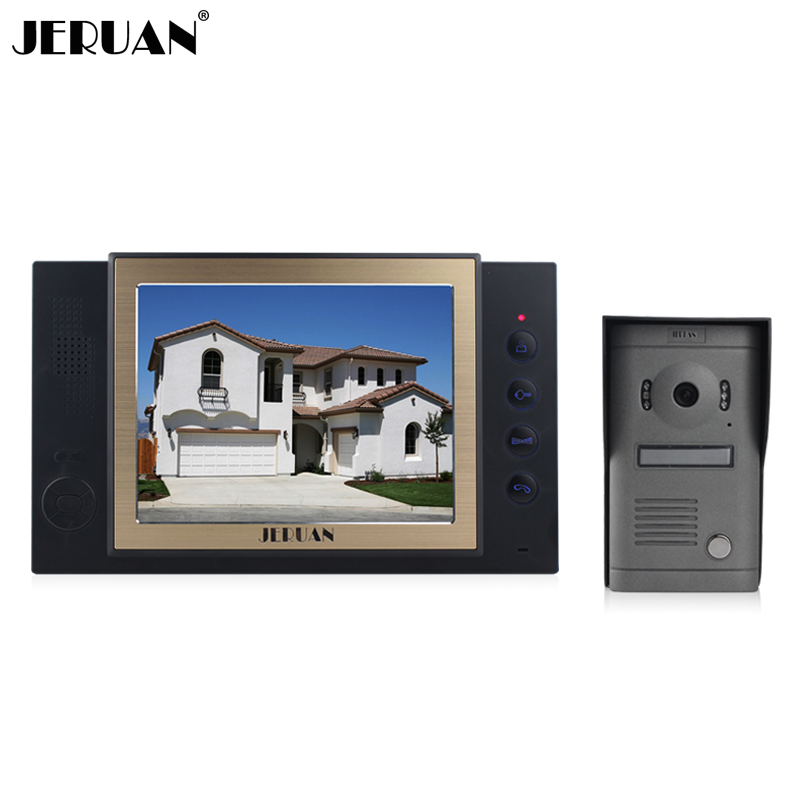 JERUAN 8`` screen video door phone high definition camera High-grade metal panel with video recording and Photo storage function winait electronic image stabilization hdv z8 digital video camera with recording function touch screen