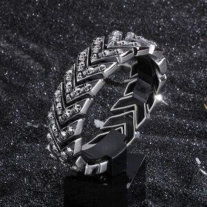 Image 3 - Тяжёлые мужские браслеты шириной 25 мм, 2020, мужской браслет в стиле панк качалка, мужские ювелирные изделия, браслет из нержавеющей стали