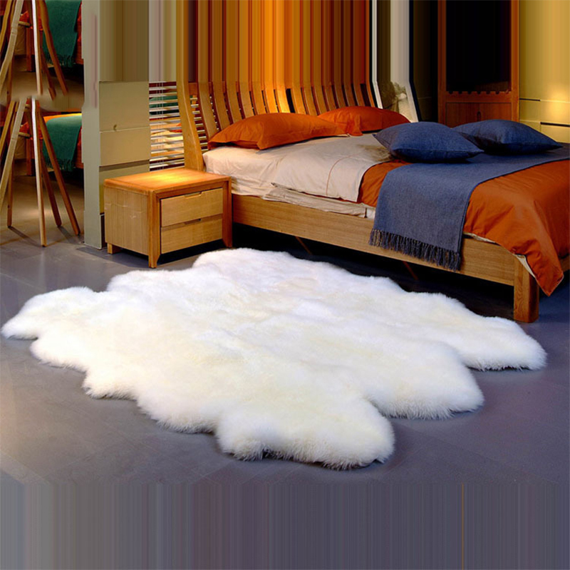 Natural Soft New Zeland Sheepskin Rug 100% Genuine Sheep Fur Carpet For Home Decor 100% Wool Fur Mat For Sofa Cover Door Mat