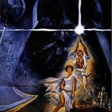 Cartel de pintura decorativa de seda de película Original de Star Wars de 24x36inch