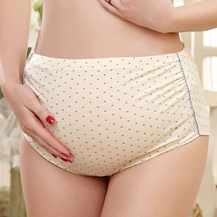 b015db8b2 Pregnant women s underwear early pregnancy of tall waist abdominal  pregnancy underwear made of pure cotton breathable-in Belly Bands   Support  from Mother ...