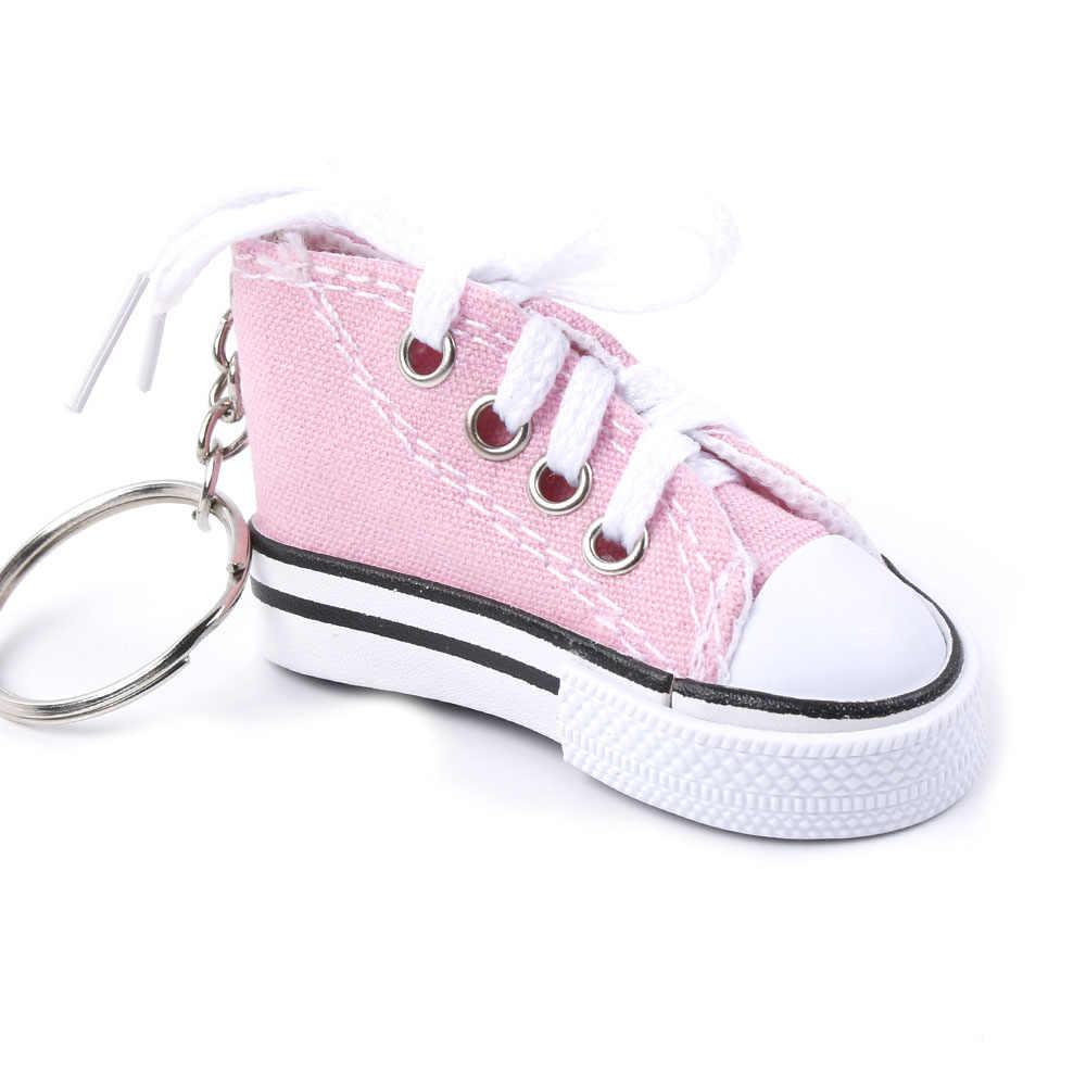 7 màu sắc Dễ Thương Mini Mô Phỏng Giày Vải Móc Khóa Móc Khóa Cho Nữ Cô Gái Lưu Niệm Tặng Nữ Túi Phụ Kiện Móc Treo Chìa Khóa