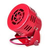 DWCX Universal DC 12V Red 3 Driven Air Raid Siren Horn Speaker Alarm 50 S Fit
